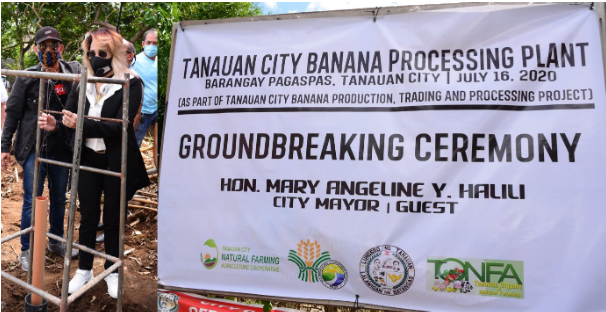 Groundbreaking Ceremony ng Tanauan City Banana Processing Plant, idinaos